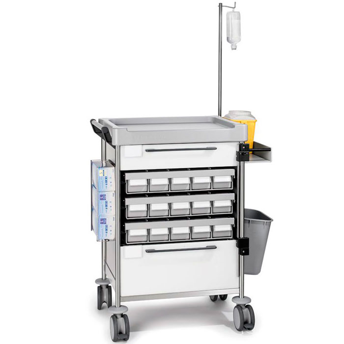 Unit dose medication Simple trolley 1812 W - 100 series Insausti