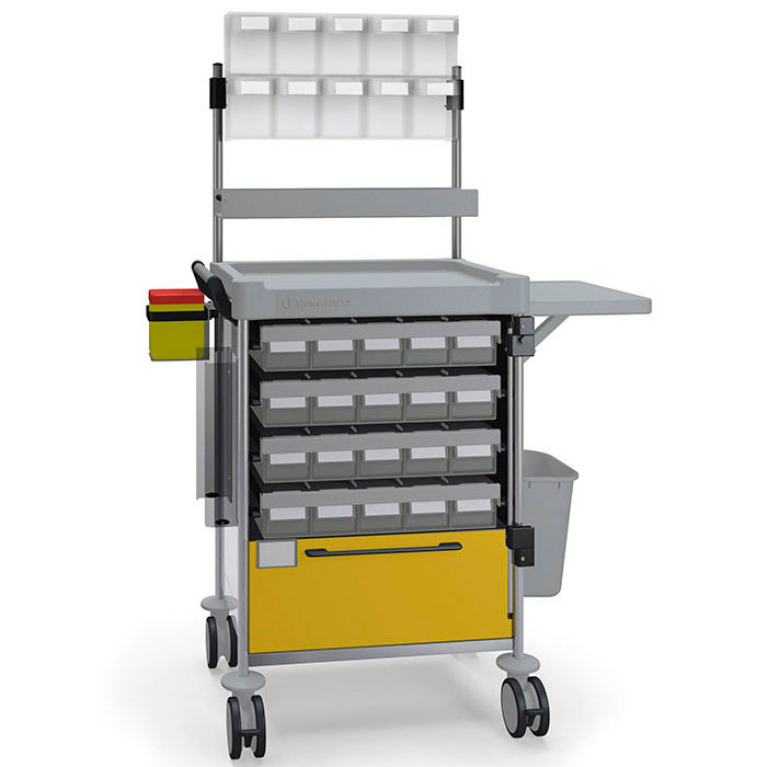 Unit dose medication Simple trolley 1835 Y - 100 series Insausti