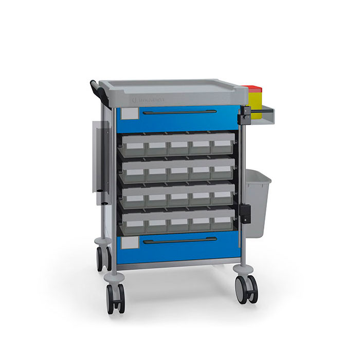 Unit dose medication Simple trolley 1894 B - 100 series Insausti
