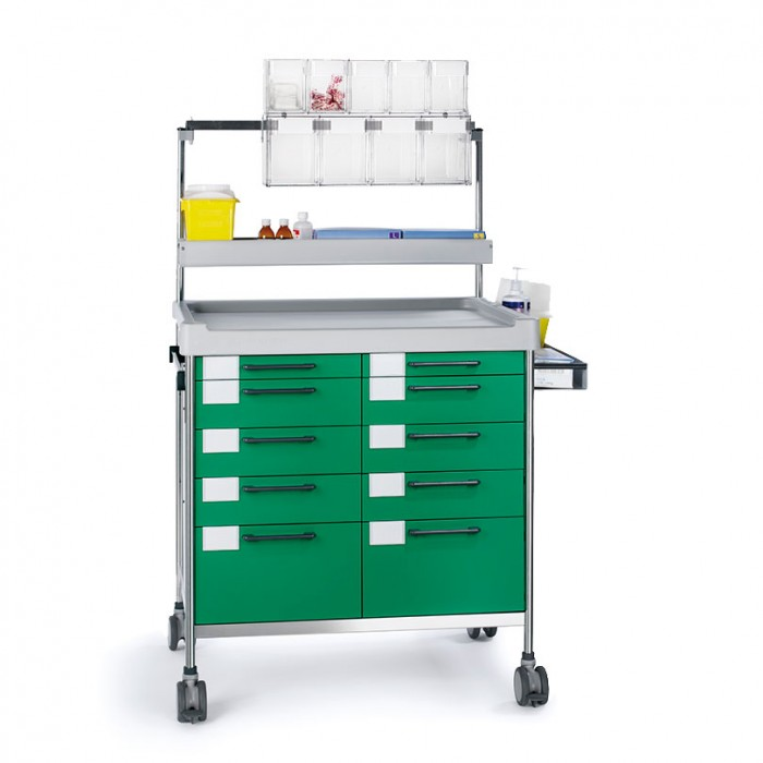 Anaesthesia Double trolley 3948 G - 300 series