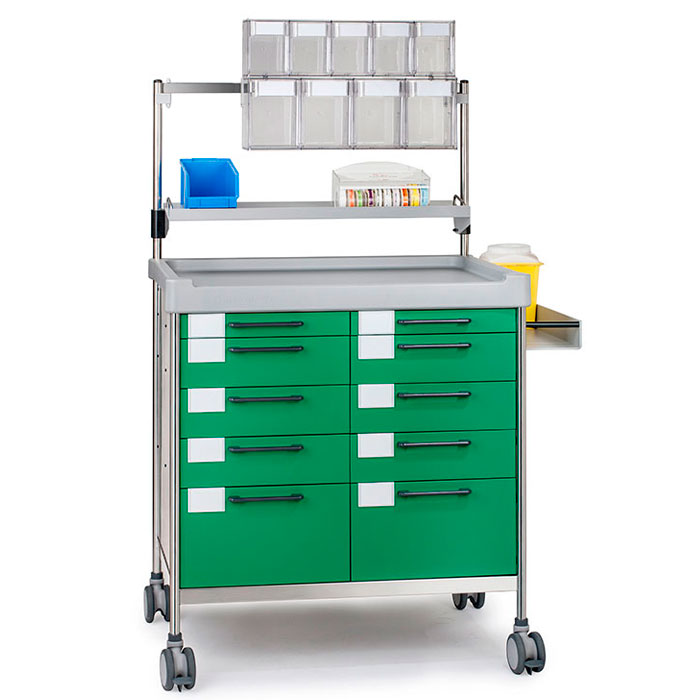 Anaesthesia Double trolley 3956 G - 300 series Insausti