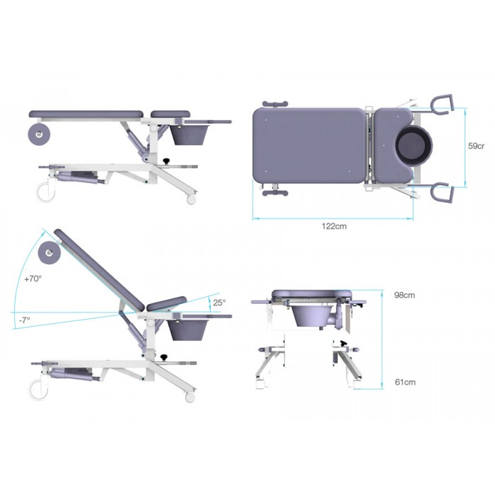 Afia 4062 Gynaecological Examination Chair Lojer